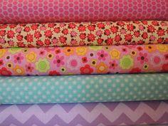 Kids Rag Quilt Kit Lady Bug Garden Fabric  Fun Fast by beffie48, $34.99