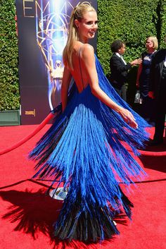 Heidi Klum in Project Runway contestant Sean Kelly's dress at the Emmys 2014