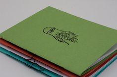 Little Octopus Blank Notebook by birddoodle on Etsy, $4.00