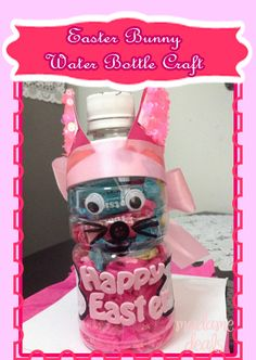 #Easter Bunny Water Bottle #Craft a great #gift idea for kids http://madamedeals.com/easter-bunny-water-bottle-craft/