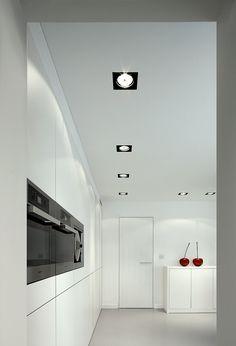 Multiple trimless: Highly versatile  #Multiple #kitchen #kitchenlight #blackandwhite #spotlight #cherries #minimalism