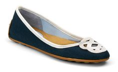 Lakeside Flat in Navy Canvas/White