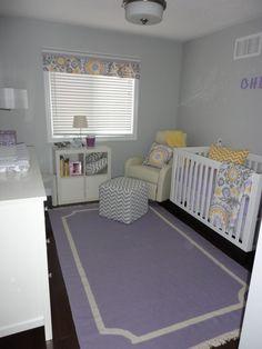 grey/purple/yellow nursery color scheme