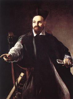 Portrait Of Maffeo Barberini, öl von Caravaggio (Michelangelo Merisi) (1571-1610, Italy)