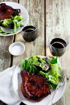 Sticky Honey & Soy Pork Chops. #recipes #meat #pork #dinner