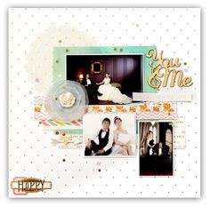 HAPPY - Scrapbook.com - Doilies are perfect elements for wedding layouts.