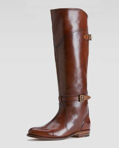 Dorado Polished Leather Riding Boot by Frye.