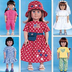 AMERICAN DOLL CLOTHES Sewing Pattern