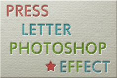 Photoshop Tutorial - Press Letter Photoshop Effect - from PSDDude at http://www.psd-dude.com/tutorials/photoshop.aspx?t=press-letter-photoshop-effect