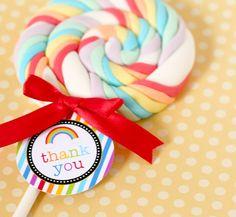 favors, birthday parties, tag, rainbows, rainbow birthday