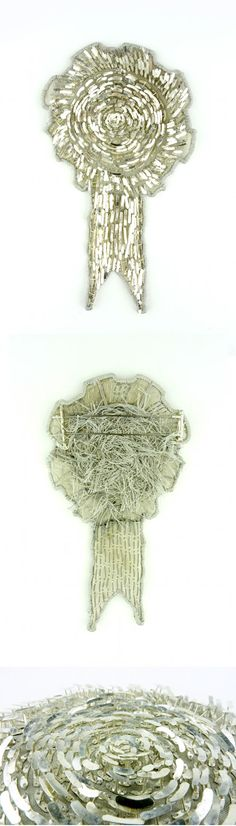 Claire McArdle Brooch: Rosette 2012 Sterling silver, silk, stainless steel