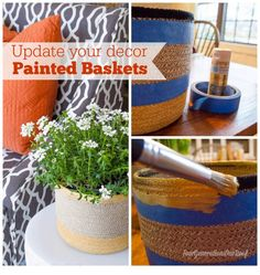 how to paint baskets with acrylic paint www.fourgenerationsoneroof.com