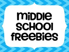 Great freebies just for Middle School Teachers - grades 6-8!