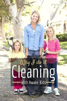 cleaning with kids, happy kids, teaching kids, hous
