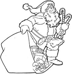 Santa Claus Coloring Pages 5 | Purple Kitty
