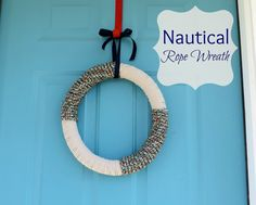 East Coast Creative: Nautical Rope Wreath {Tutorial}
