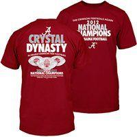 #Alabama Crimson Tide 2012 BCS National Champions Crystal Dynasty T-Shirt