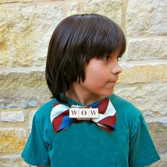 morena's corner: Wordy Bow Ties made with Repurposed Goodwill San Antonio Items