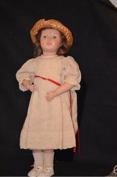 Antique Doll Schoenhut Wood Carved in Orig Union Suit Jointed