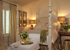 20 Master Bedroom Design Ideas in Romantic Style    i love love love this bed frame.