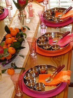 Indian dinner setting