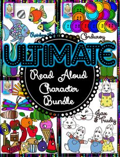 Ultimate Read Aloud Character Graphic Bundle from Cara's Clips on TeachersNotebook.com -  (178 pages)  - The Ultimate Read Aloud Character Graphic Bundle!  Over 178 images for popular read alouds such as SkippyJon Jones, Corduroy, Max and Ruby, Rainbow Fish, Sock Monkey, and Hungry Caterpillar.  Both PNG, JPEG, and Line Art images are included!  You'll