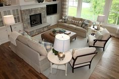Furniture layout ---Dwellings - traditional - living room - grand rapids - by Dwellings