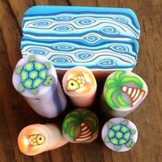 Polymer Clay Shed: Ocean Canes!