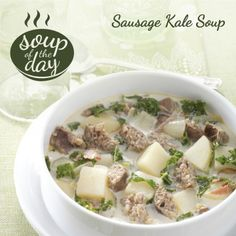 Sausage Kale Soup Recipe from Taste of Home -- shared by Nancy Dyer of Grove, Oklahoma