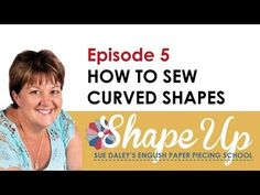 ▶ Ep 5 How to Sew Curved Shapes english paper piecing, quilttutori, school, quilts, tutorial, papers, sue daley, hexagon, quilt tutori