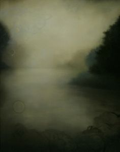 """""""ash of ink and holy water"""" by aondrea maynard. oil on canvas mounted on panel size: 60 x 47.5"""