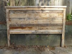 King size headboard made out of pallets!