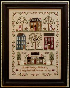 Little House Needleworks - Little House Neighborhood [LHN081962] - $14.00 : Laurel's Stitchery, The best little stitchery shop on the internet!