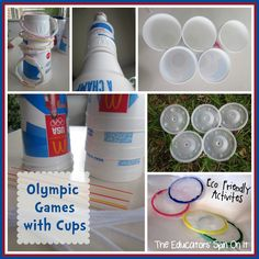 8 Eco Friendly Games and Crafts to create for Olympic Fun for the Family!
