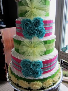 Turquoise Baby Shower on Pinterest