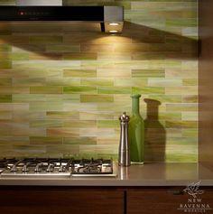 - Kitchen: Green Backsplash