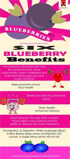 Six Blueberry Benefits (Infographic)