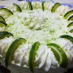 No Bake Lime Mousse Torte Allrecipes.com