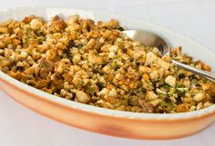 Walnut and Currant Cornbread Stuffing