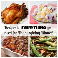 Your COMPLETE Thanksgiving dinner with recipes