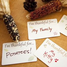 What are you thankful for? Write it down and share it with your friends. It's a great conversation starter.