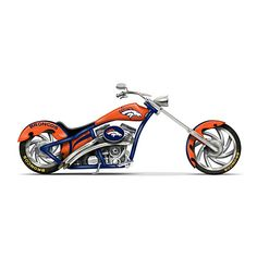Denver Broncos Motorcycle Figurine Collection  30.00