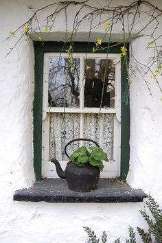 Irish Cottage Window by rhiannakelly, via Flickr