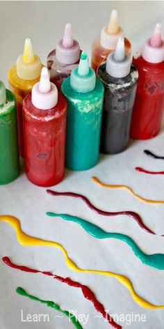 No cook homemade puffy paint recipe!  Psst:  You probably have all the necessary ingredients at home already.  Add scent and vibrant colors to make painting a sensory experience like no other!
