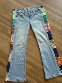 patch jeans, can't wait to snag this happiness :)