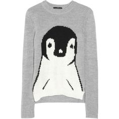 shop, fashion, style, penguin sweater, penguinintarsia knit, holiday sweater, christmas sweaters, penguins, knit sweater