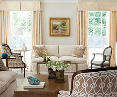 Neutral patterns make this living room super personal! More living room color ideas: http://www.bhg.com/rooms/living-room/makeovers/neutral-color/?socsrc=bhgpin071114newclassic&page=6