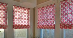 Create Gorgeous, Custom Roman Blinds (Without Sewing!) from regular blinds : )