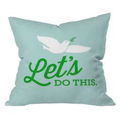 DENY DESIGNS Nick Nelson Let's Do This Pillow