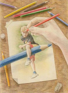Maddy Swan, color pencil art